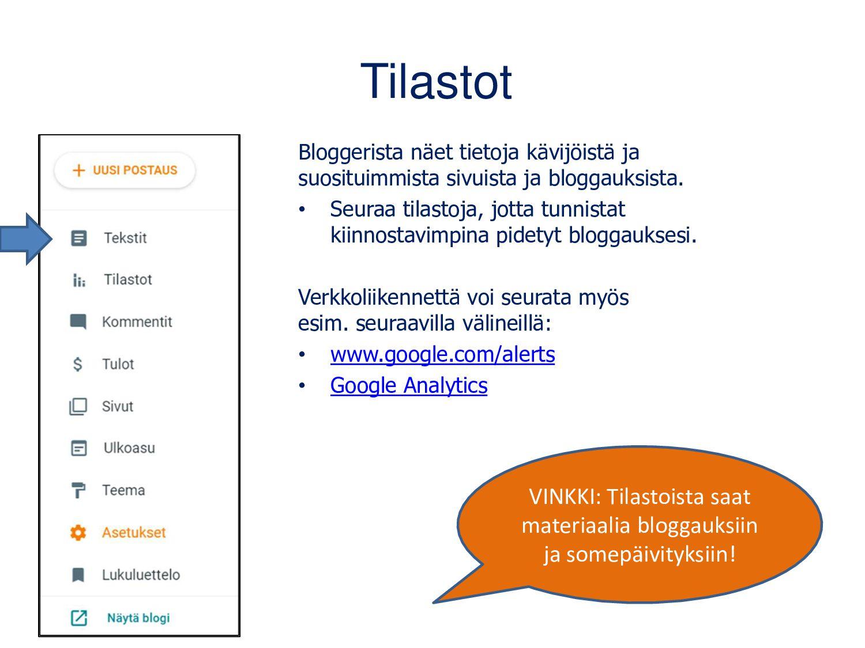 Googlen blogin luominen: blogger.com Kirjaudu G...