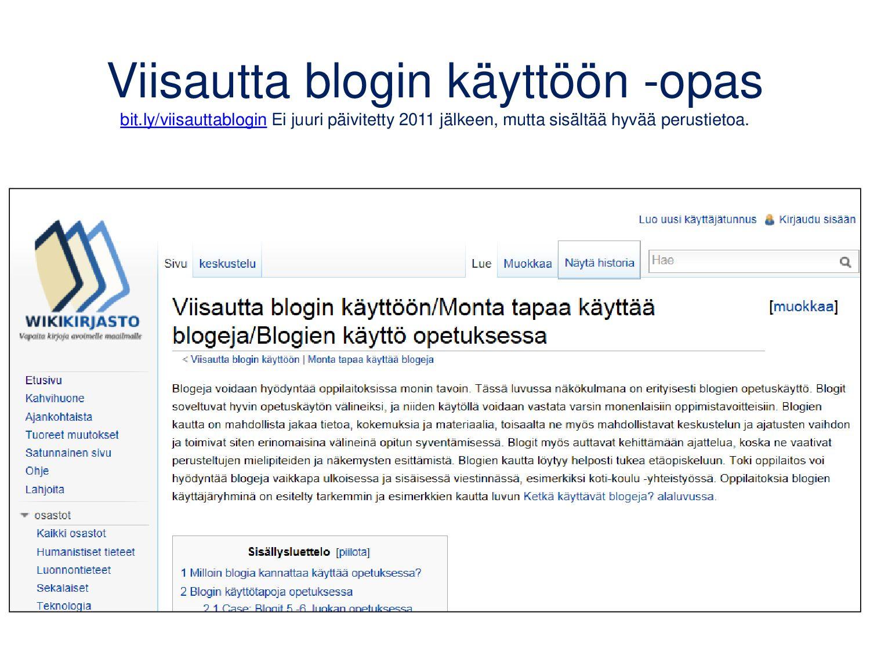 Bloggerin lukemisto Liitä blogeja lukemistoosi ...
