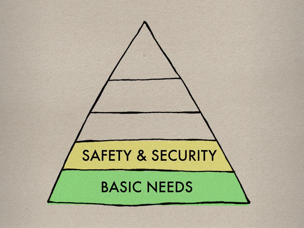 SAFETY & SECURITY BASIC NEEDS