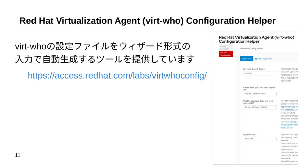 11 Red Hat Virtualization Agent (virt-who) Conf...