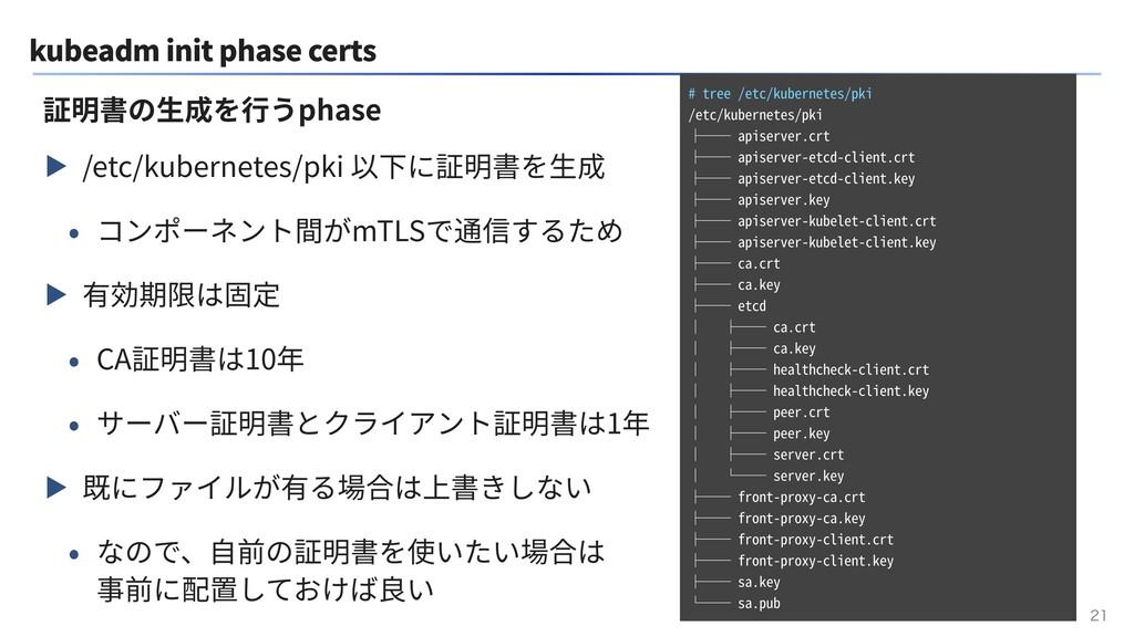 kubeadm init phase certs ▶ /etc/kubernetes/pki ...