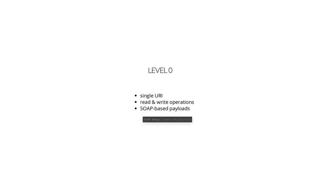 LEVEL 0 single URI read & write operations SOAP...