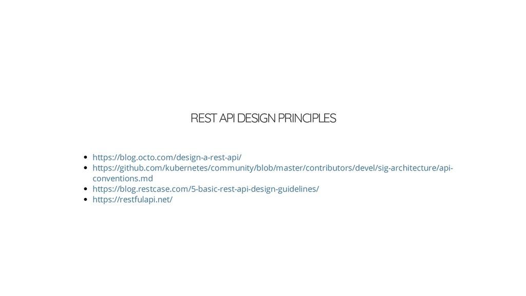 REST API DESIGN PRINCIPLES https://blog.octo.co...