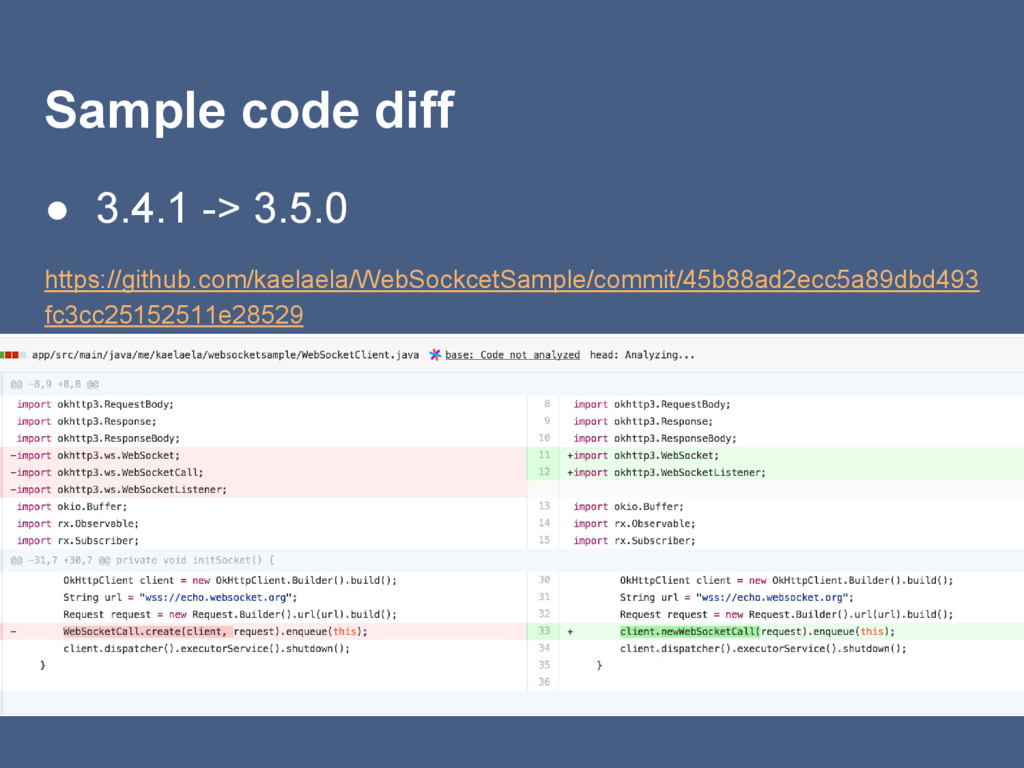 Sample code diff ● 3.4.1 -> 3.5.0 https://githu...