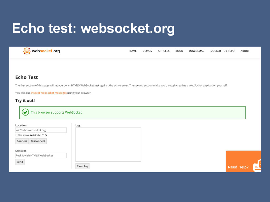 Echo test: websocket.org