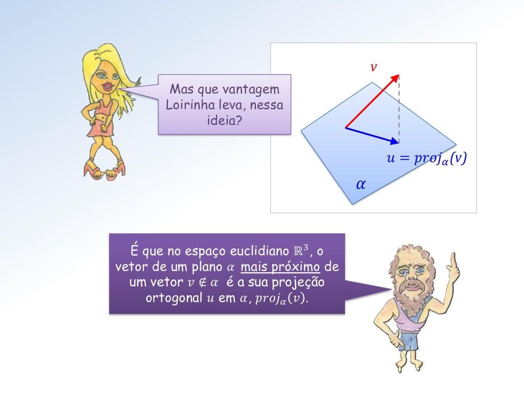 É que no espaço euclidiano ℝ3, o vetor de um pl...