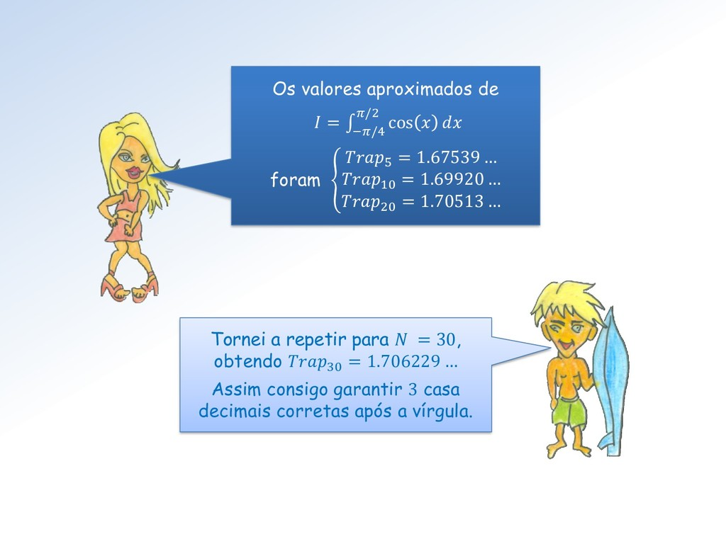 Os valores aproximados de  = ׬ −/4 /2 cos   for...
