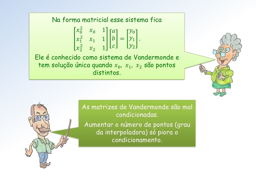 Na forma matricial esse sistema fica 0 2 0 1 1 ...