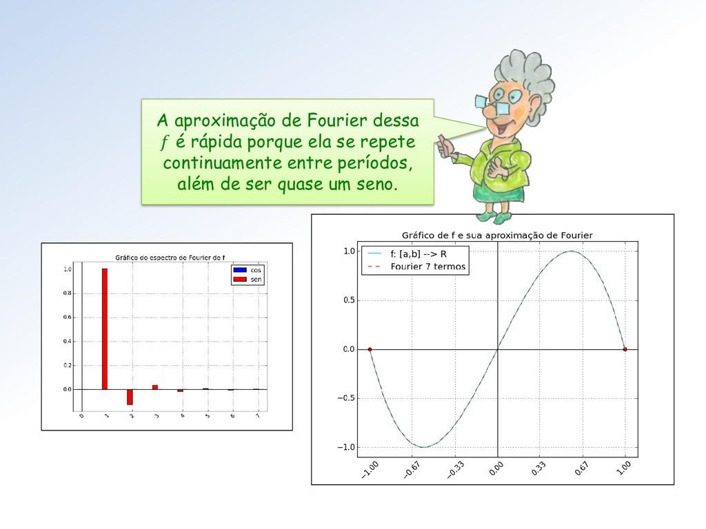 A aproximação de Fourier dessa  é rápida porque...