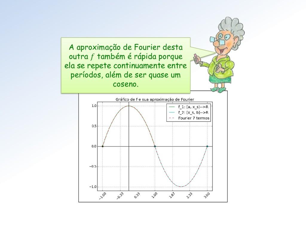 A aproximação de Fourier desta outra  também é ...