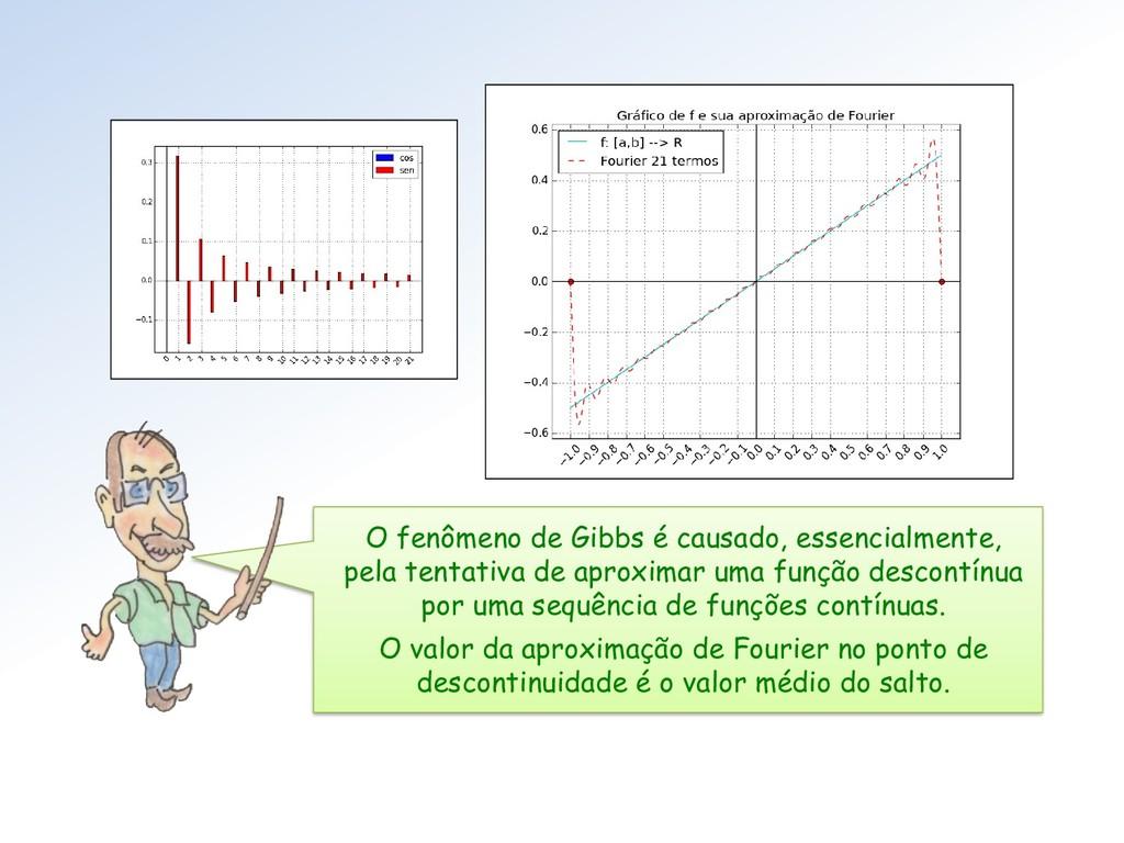 O fenômeno de Gibbs é causado, essencialmente, ...