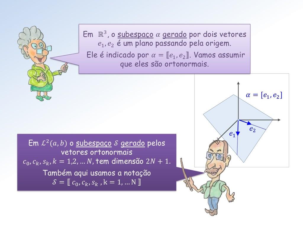 1 2  = [1 , 2 ] Em ℒ2(, ) o subespaço  gerado p...