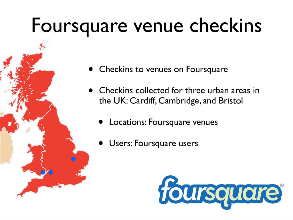 Foursquare venue checkins • Checkins to venues ...