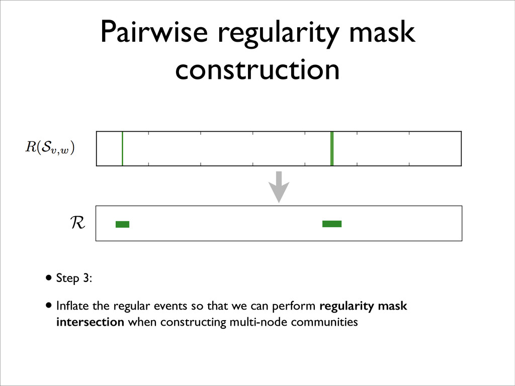 Pairwise regularity mask construction • Step 3:...