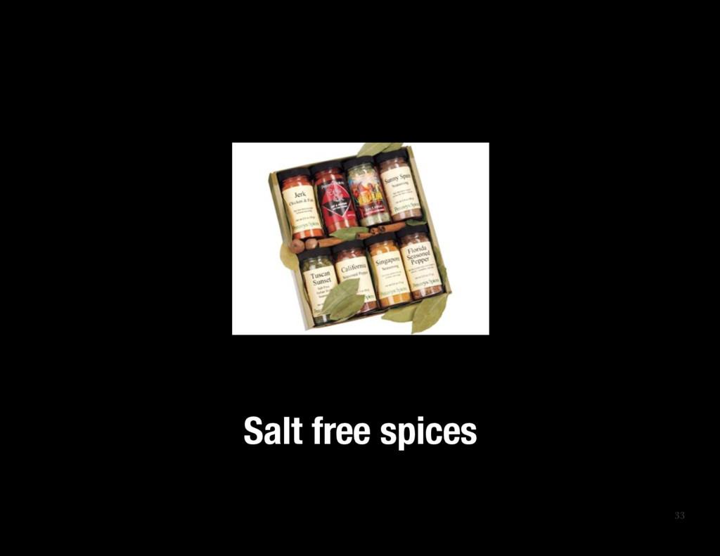 33 Salt free spices