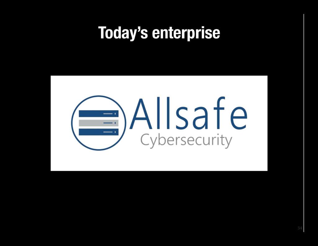 34 Today's enterprise