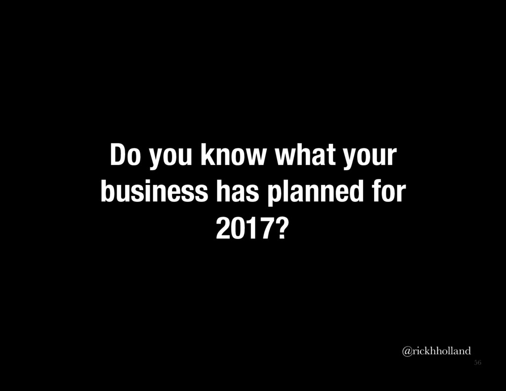56 Do you know what your business has planned ...