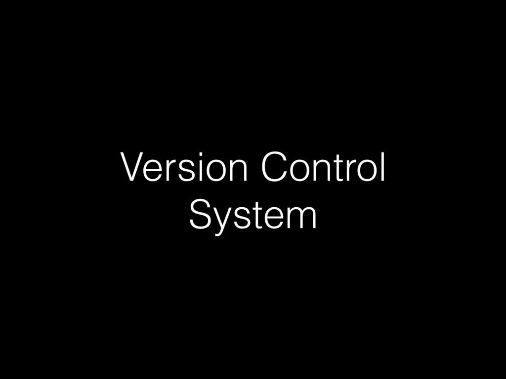 Version Control System