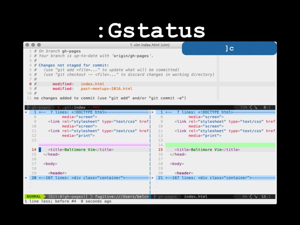 :Gstatus ]c