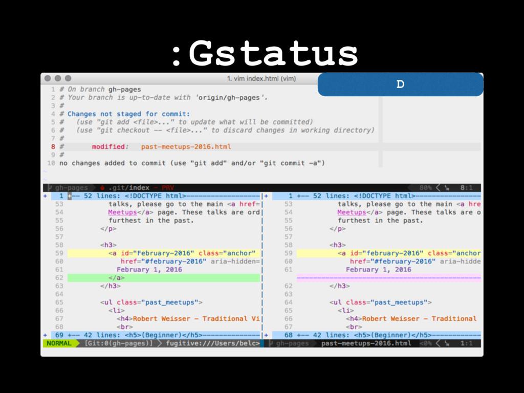 :Gstatus D