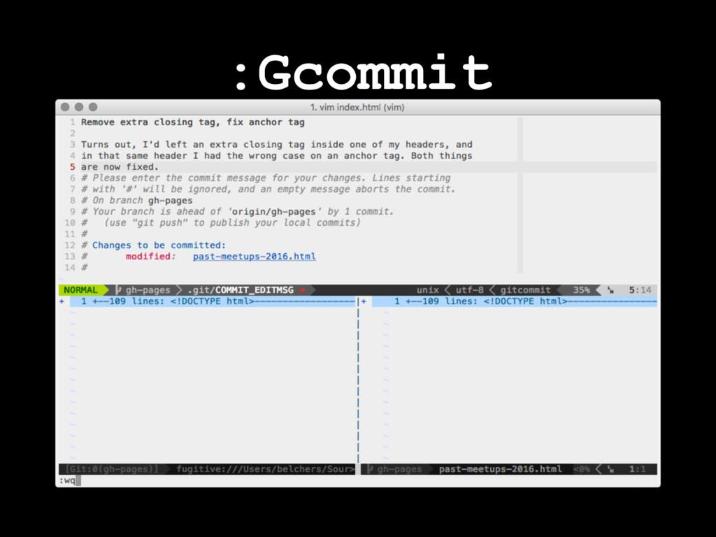 :Gcommit