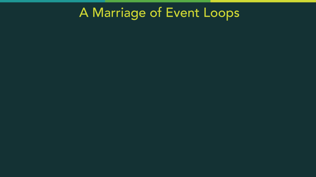 A Marriage of Event Loops