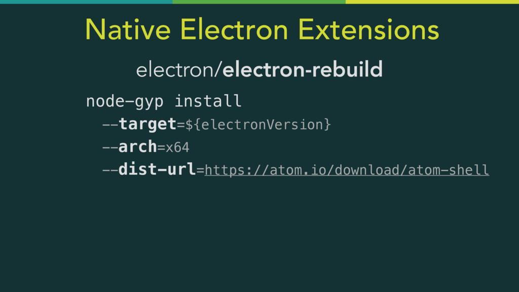 Native Electron Extensions electron/electron-re...