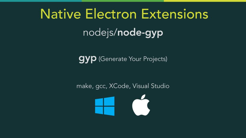 Native Electron Extensions nodejs/node-gyp  gy...