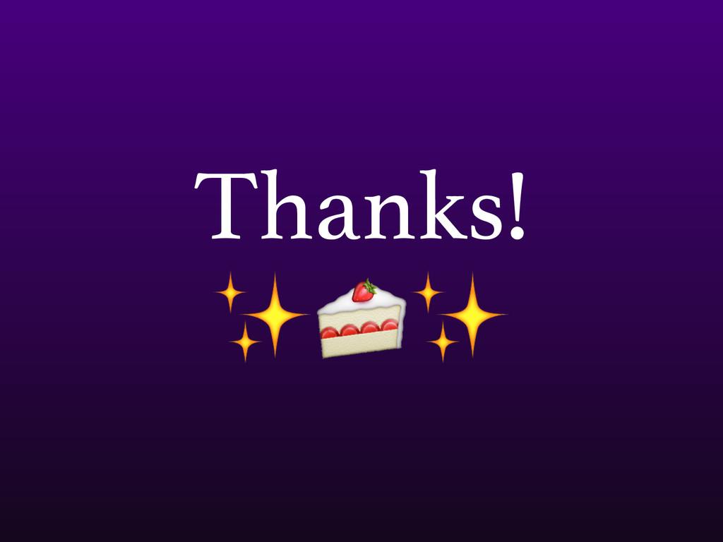 Thanks! ✨✨