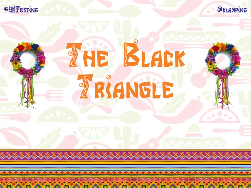 @klamping #UITesting The Black Triangle