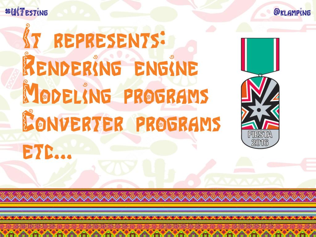 @klamping #UITesting It represents: Rendering e...