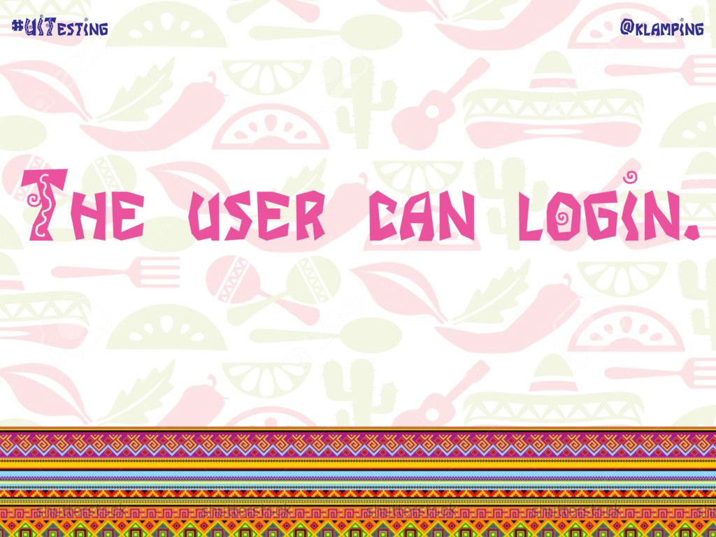 @klamping #UITesting The user can login.