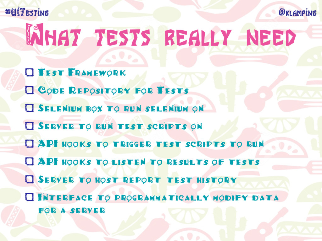 @klamping #UITesting What tests really need Tes...