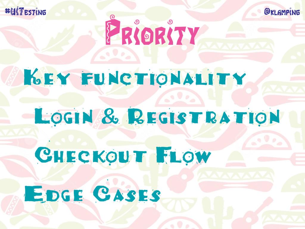 @klamping #UITesting Priority Key functionality...