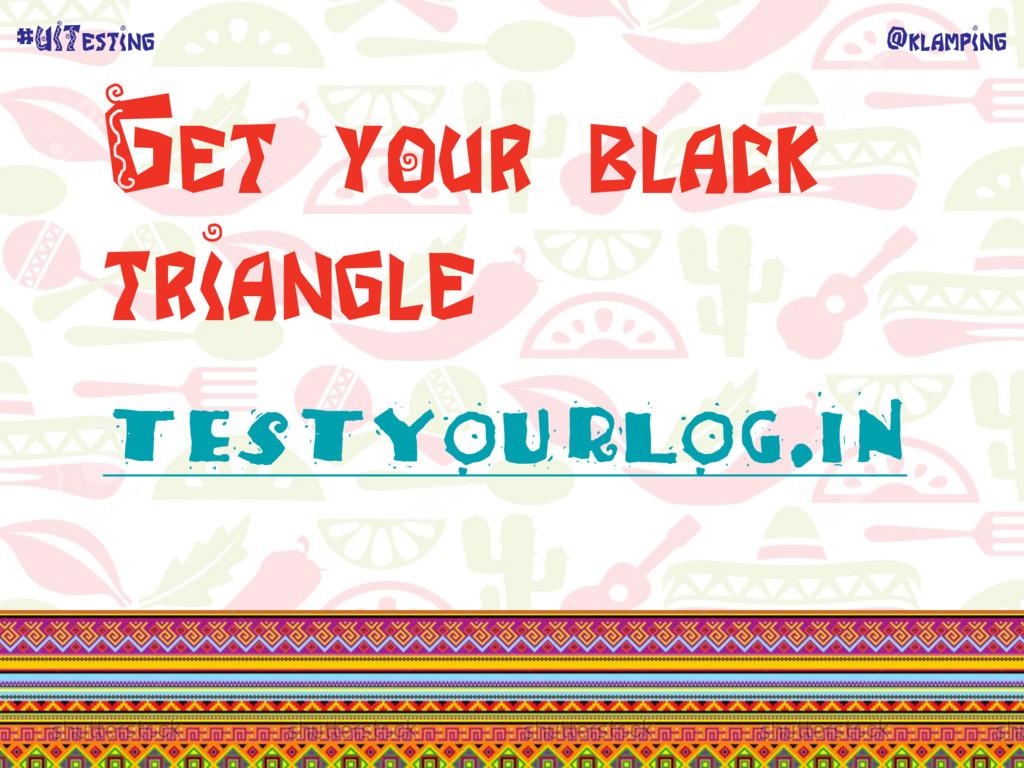 @klamping #UITesting Get your black triangle te...