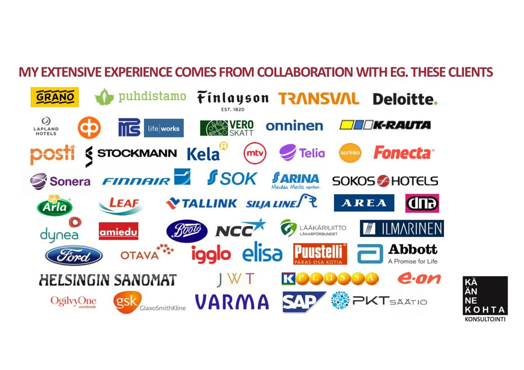 MY EXTENSIVE EXPERIENCE COMES FROM COLLABORATIO...