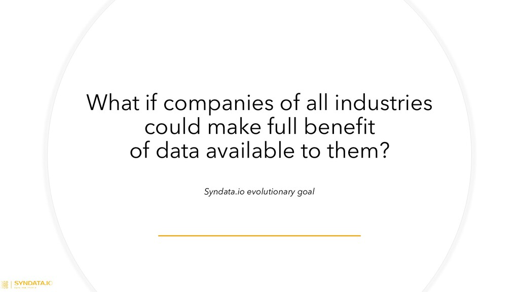 What if companies of all industries could make ...