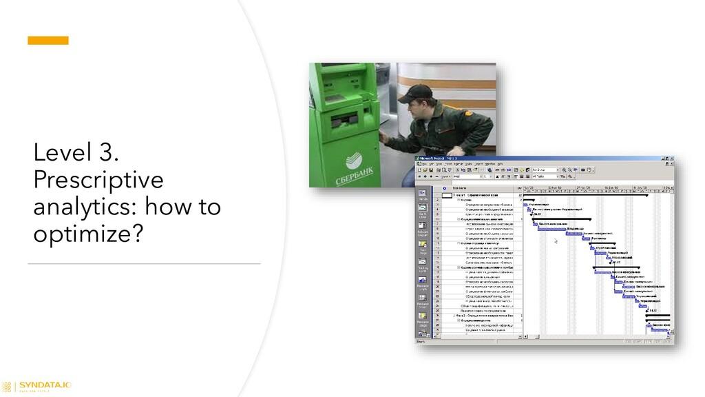 Level 3. Prescriptive analytics: how to optimiz...