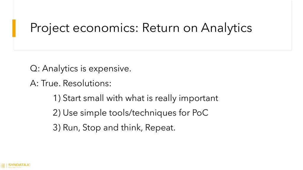 Project economics: Return on Analytics Q: Analy...