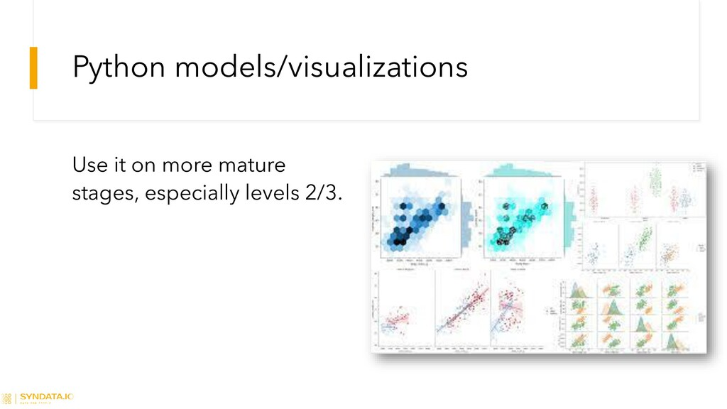 Python models/visualizations Use it on more mat...