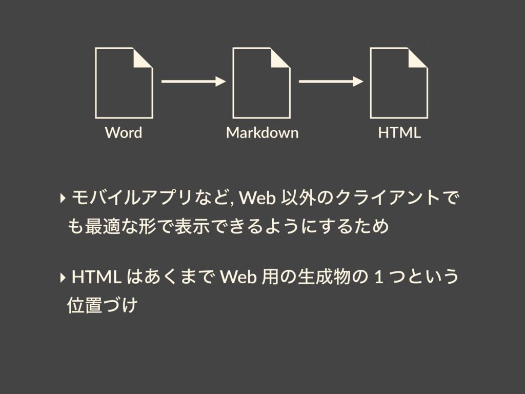 Word HTML Markdown ‣ ϞόΠϧΞϓϦͳͲ, Web Ҏ֎ͷΫϥΠΞϯτͰ ...