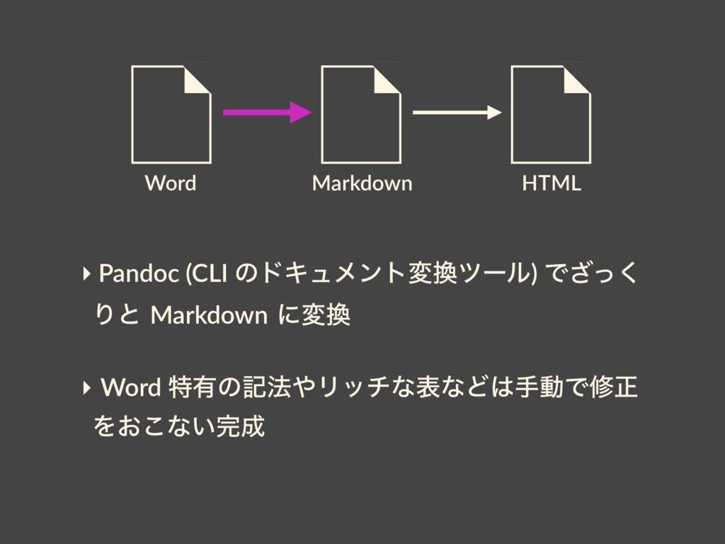 Word HTML Markdown ‣ Pandoc (CLI ͷυΩϡϝϯτมπʔϧ) ...