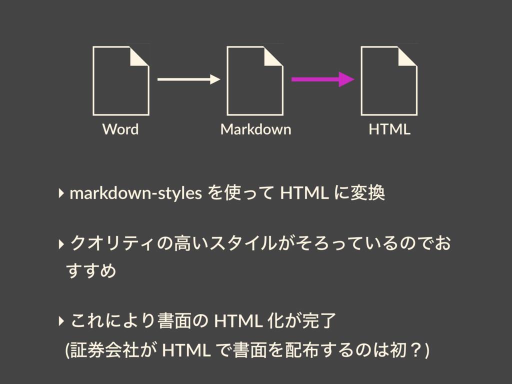 Word HTML Markdown ‣ markdown-styles Λͬͯ HTML ...