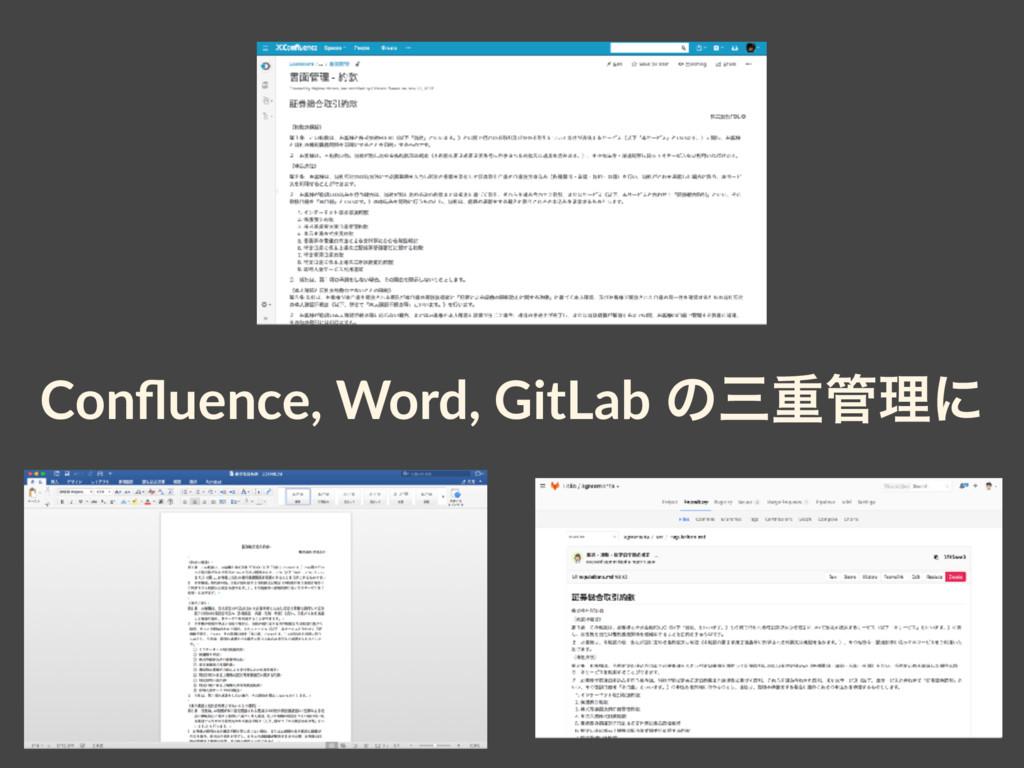 Confluence, Word, GitLab ͷॏཧʹ