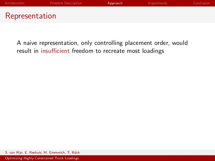 Introduction Problem Description Approach Exper...