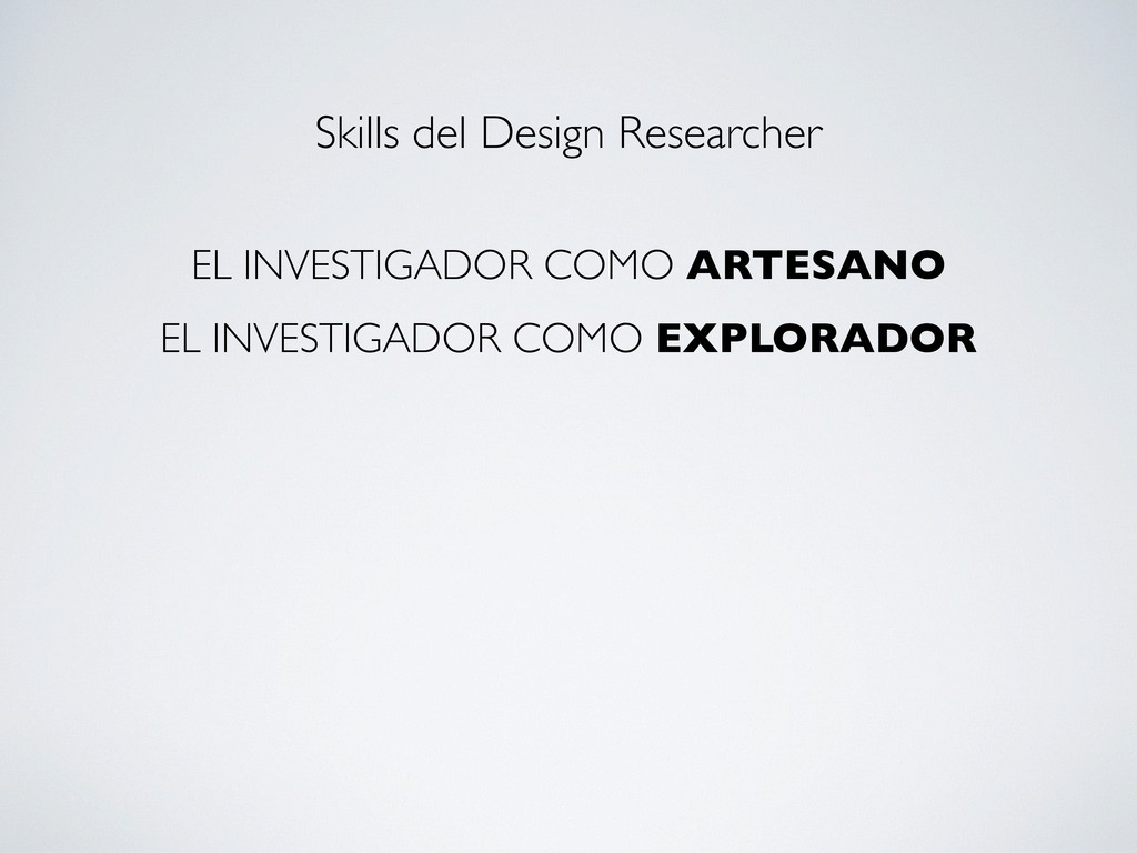 EL INVESTIGADOR COMO ARTESANO EL INVESTIGADOR C...