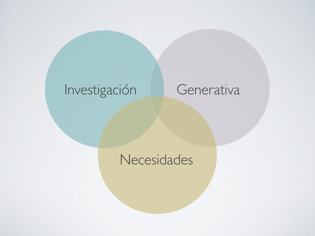 Generativa Investigación Necesidades