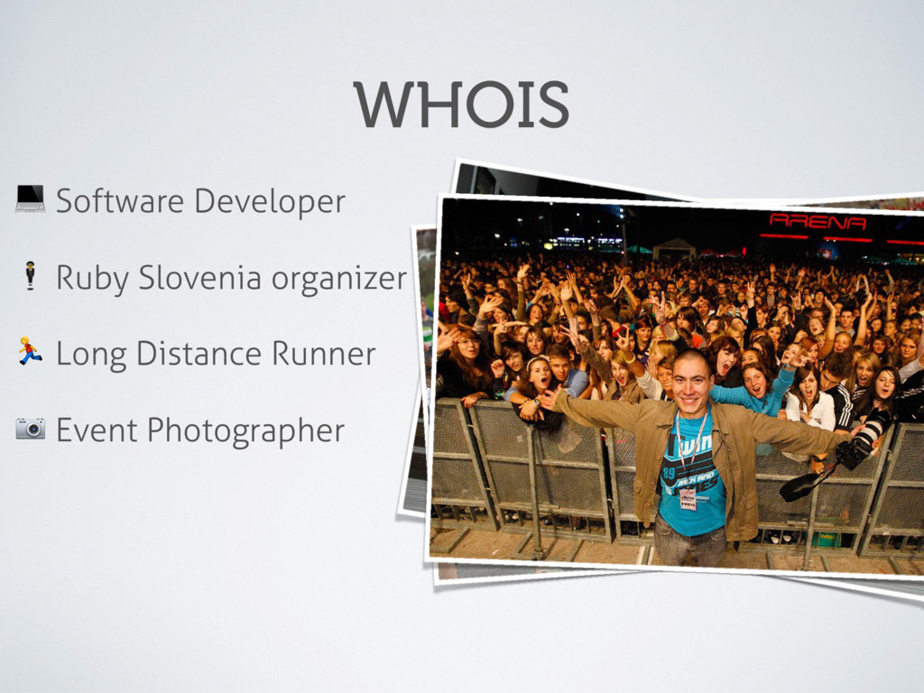"WHOIS ! Software Developer "" Ruby Slovenia orga..."