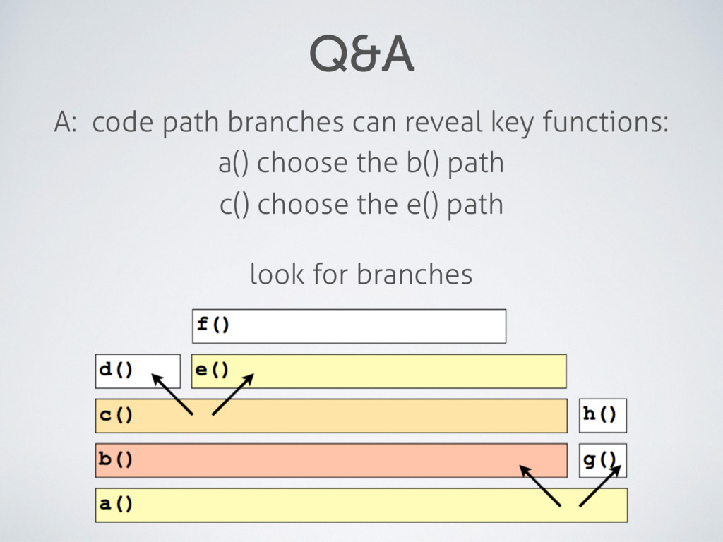 Q&A A: code path branches can reveal key functi...