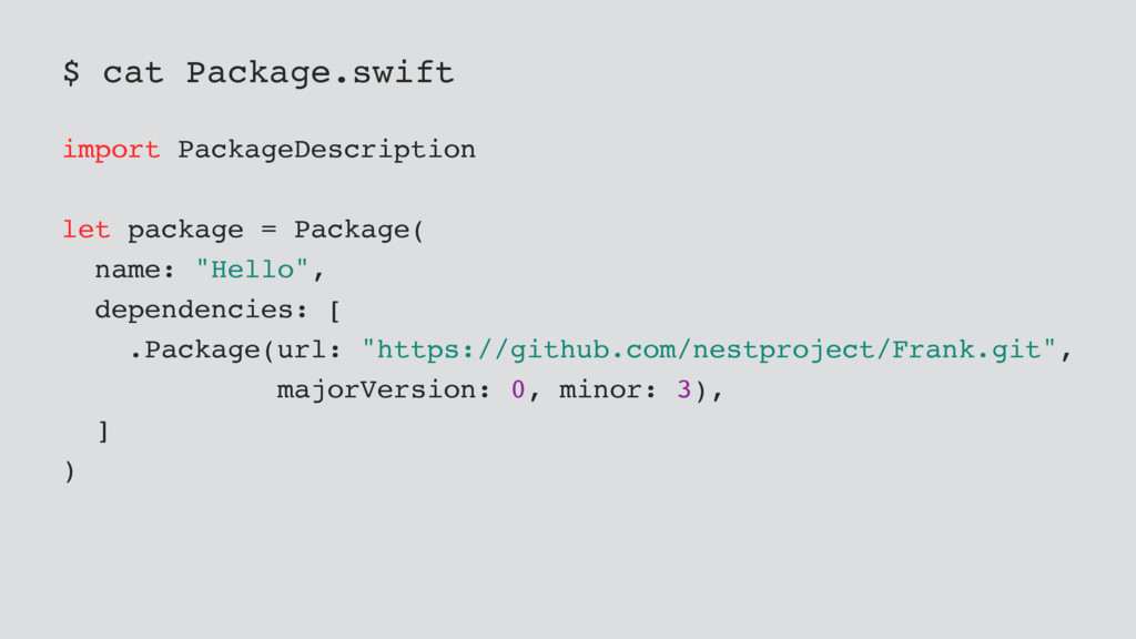 $ cat Package.swift import PackageDescription l...